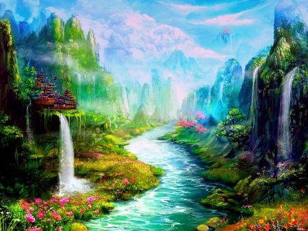 3D Spring Desktop Wallpaper SPRING FANTASY valley