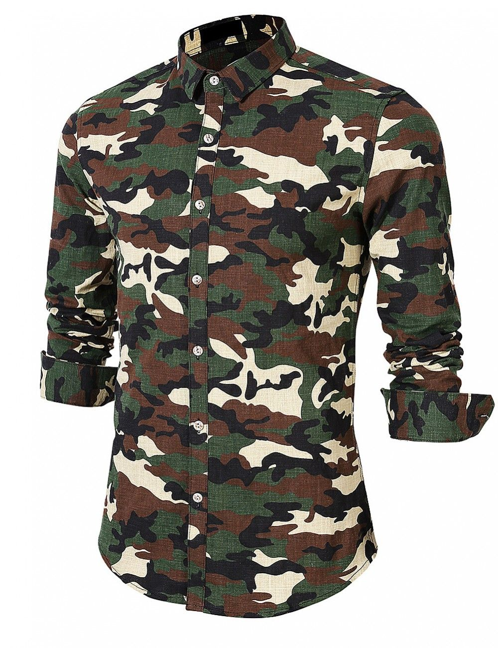 8adb90395 YesFashion Men's Cool Print Long Sleeve Camouflage Shirt - Yesfashion.com  in Free Shipping