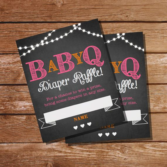 Chalkboard BBQ Baby Shower Diaper Raffle Cards by SunshineParties on #Etsy.....love these! #ChalkboardBabyShower #ChalkboardDiaperRaffle