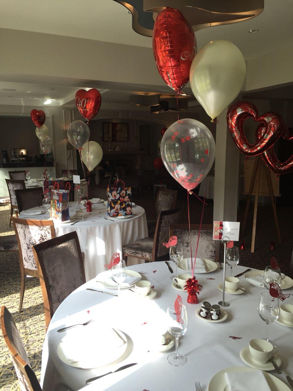 Ruby Wedding Table Settings