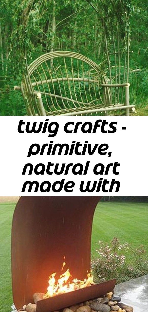 Twig crafts - primitive, natural art made with branches and twigs #twigcrafts