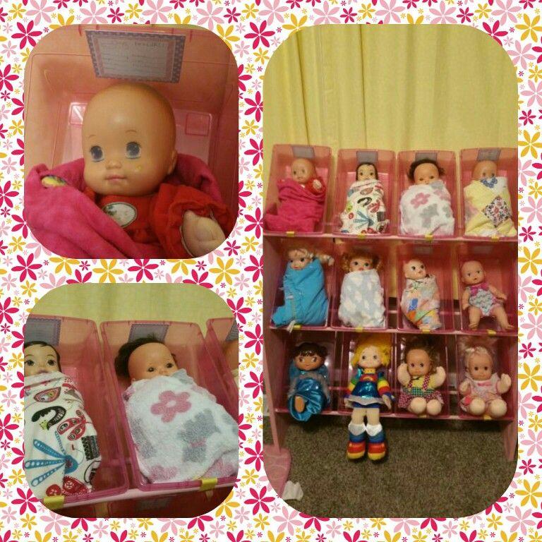 Baby doll nursery storage for baby dolls Kids toy