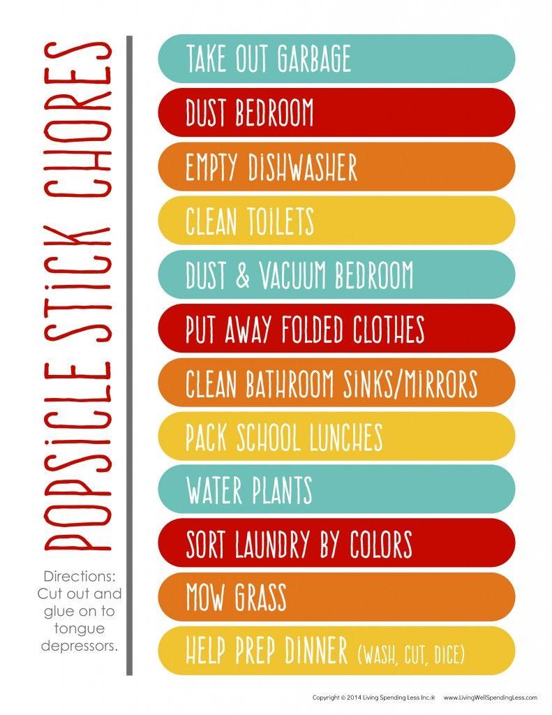 Pin On Creative Chore Charts