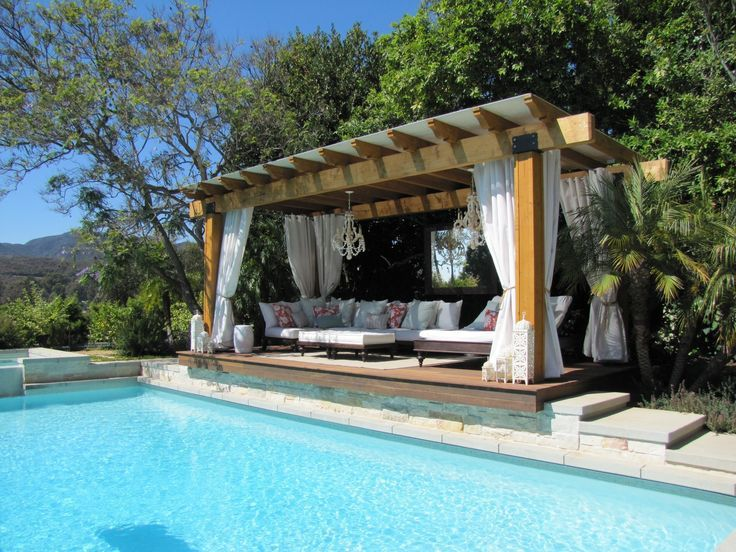 Pin by shai ben yosef on back yard pool cabana backyard for Pool design with gazebo