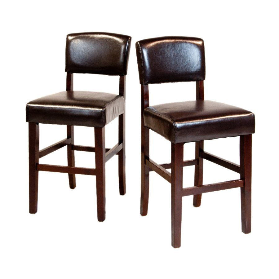 """$159.99 Set of Two Avalon Collection Bar Stools  The Avalon 24"""" Bar Stool is a beautiful leather look stool that fits beautifully at the counter of any kitchen or bar. Its elegant classic looks add pizazz to your home."""