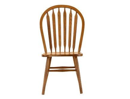 Jefferson Collection Oak Arrow Back Side Chair Chair Side