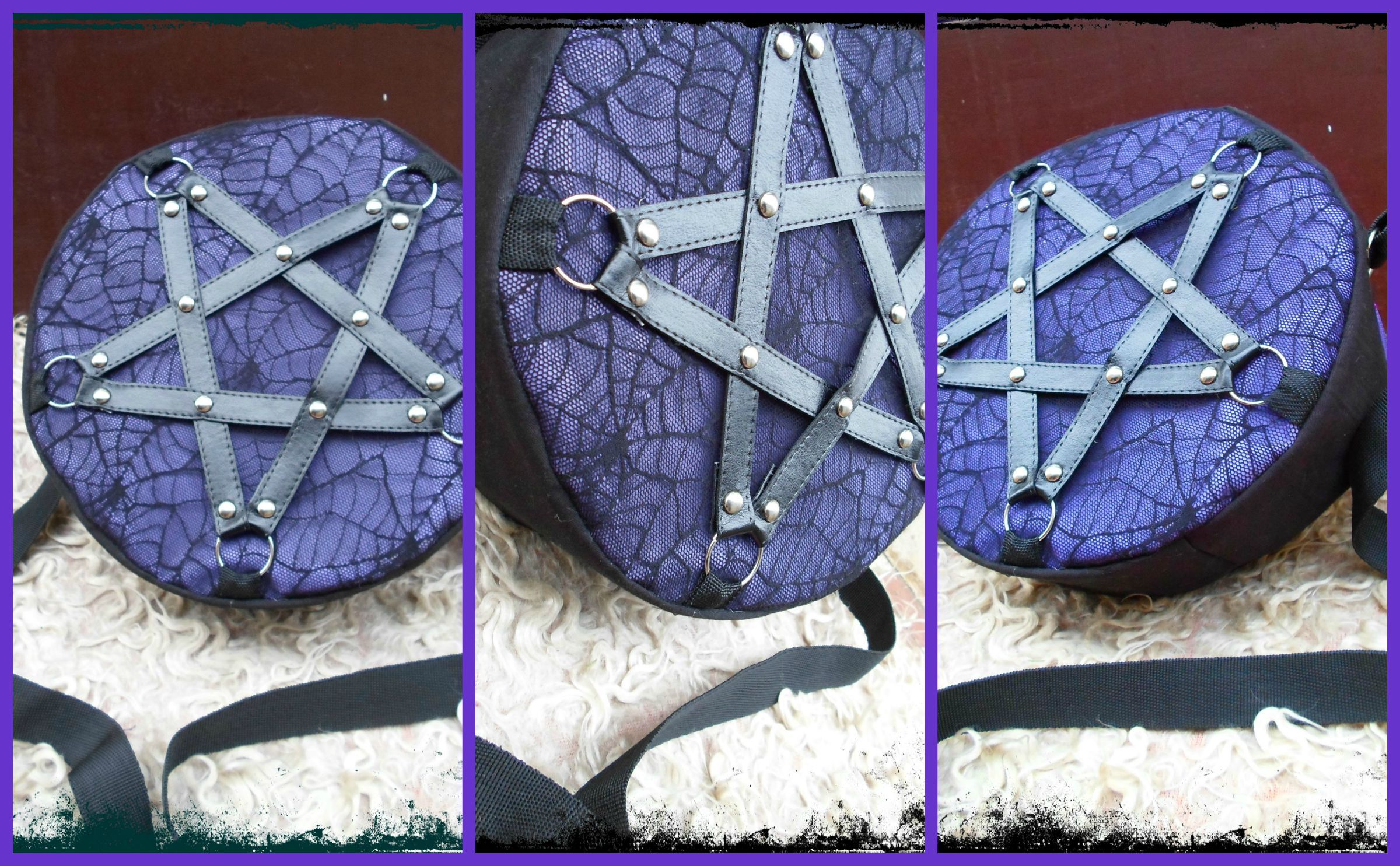 pentagram bag  black pearl gothic jewelry and accessories