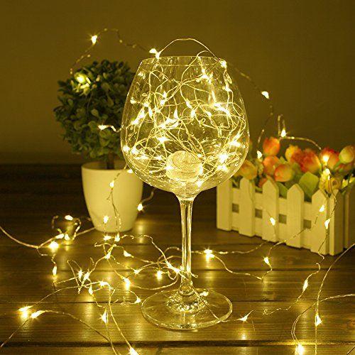 Christmas Lights Strings Indoor, Ofun 6 Packs 66ft 20 LEDs Copper