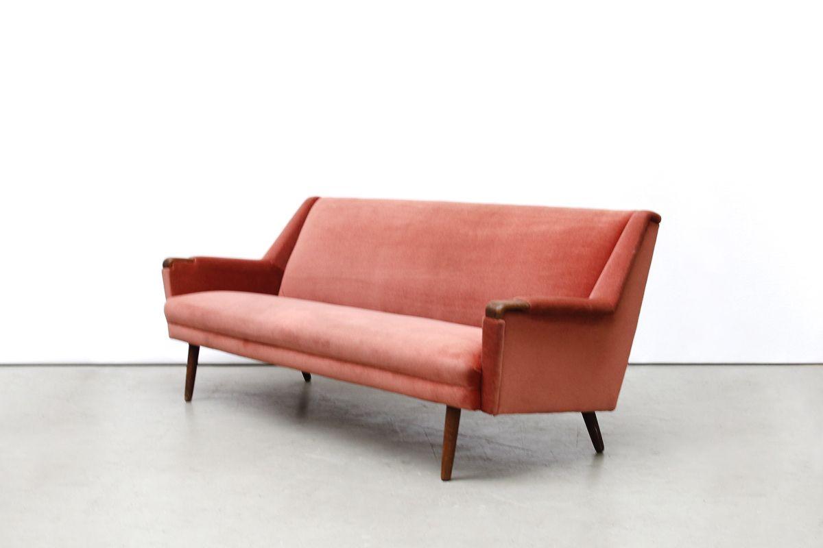 Vintage oud roze deens design bank sofa journal du design