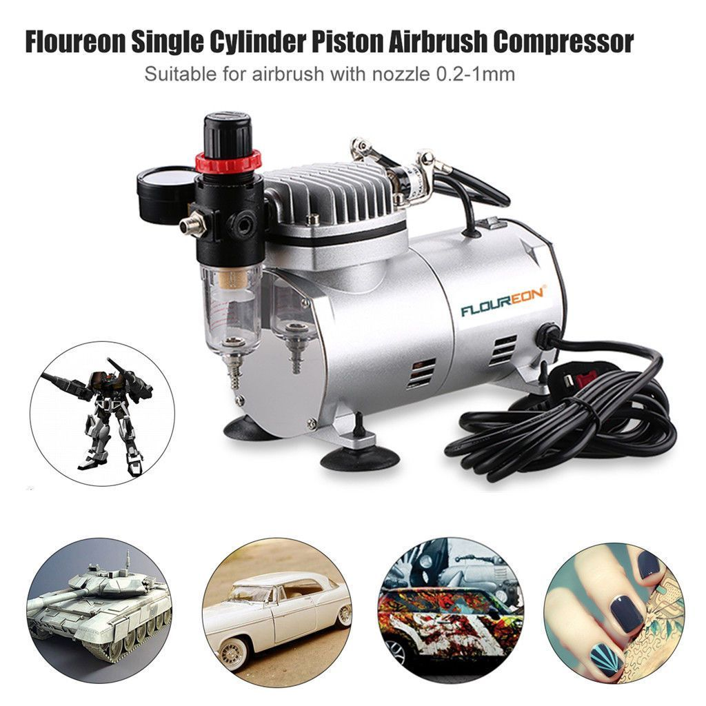 Single Cylinder Piston Airbrush Compressor 6Hp Spray Air Tool 1.5M ...