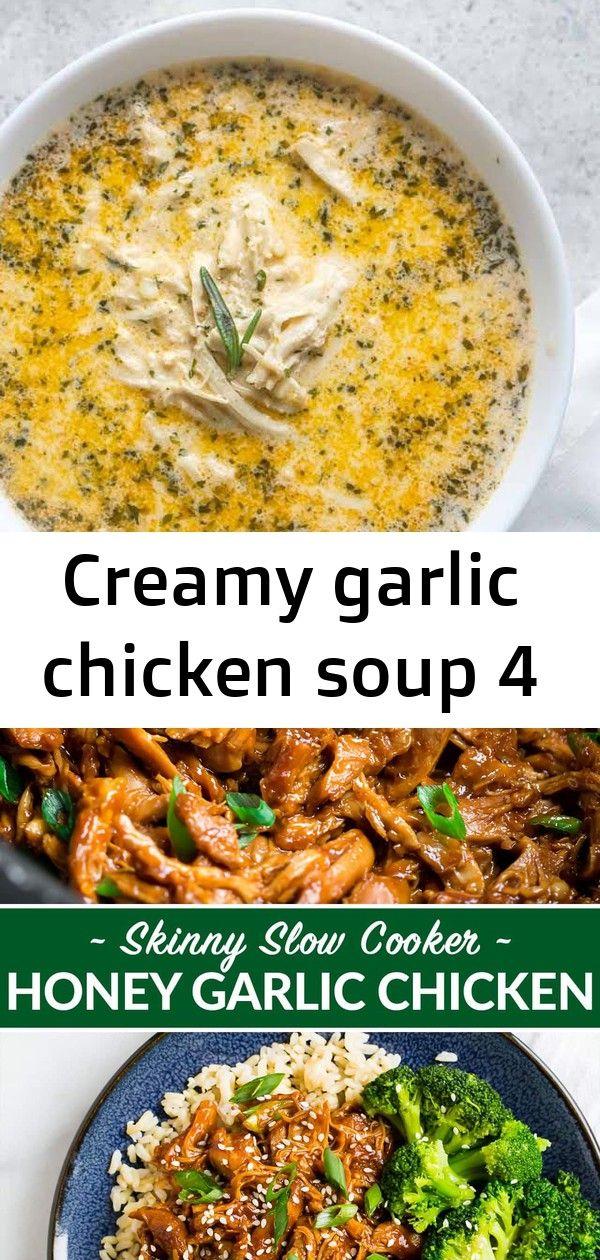 Creamy garlic chicken soup 4 #creamygarlicchicken