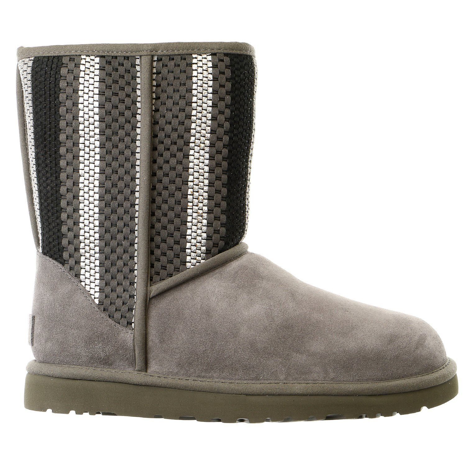 Ugg Australia Classic Short Woven Suede Boot Womens Products
