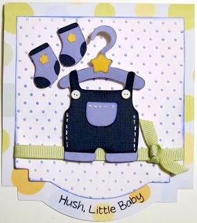 Cricut Baby Boy Card. Baby Steps Cartridge. *