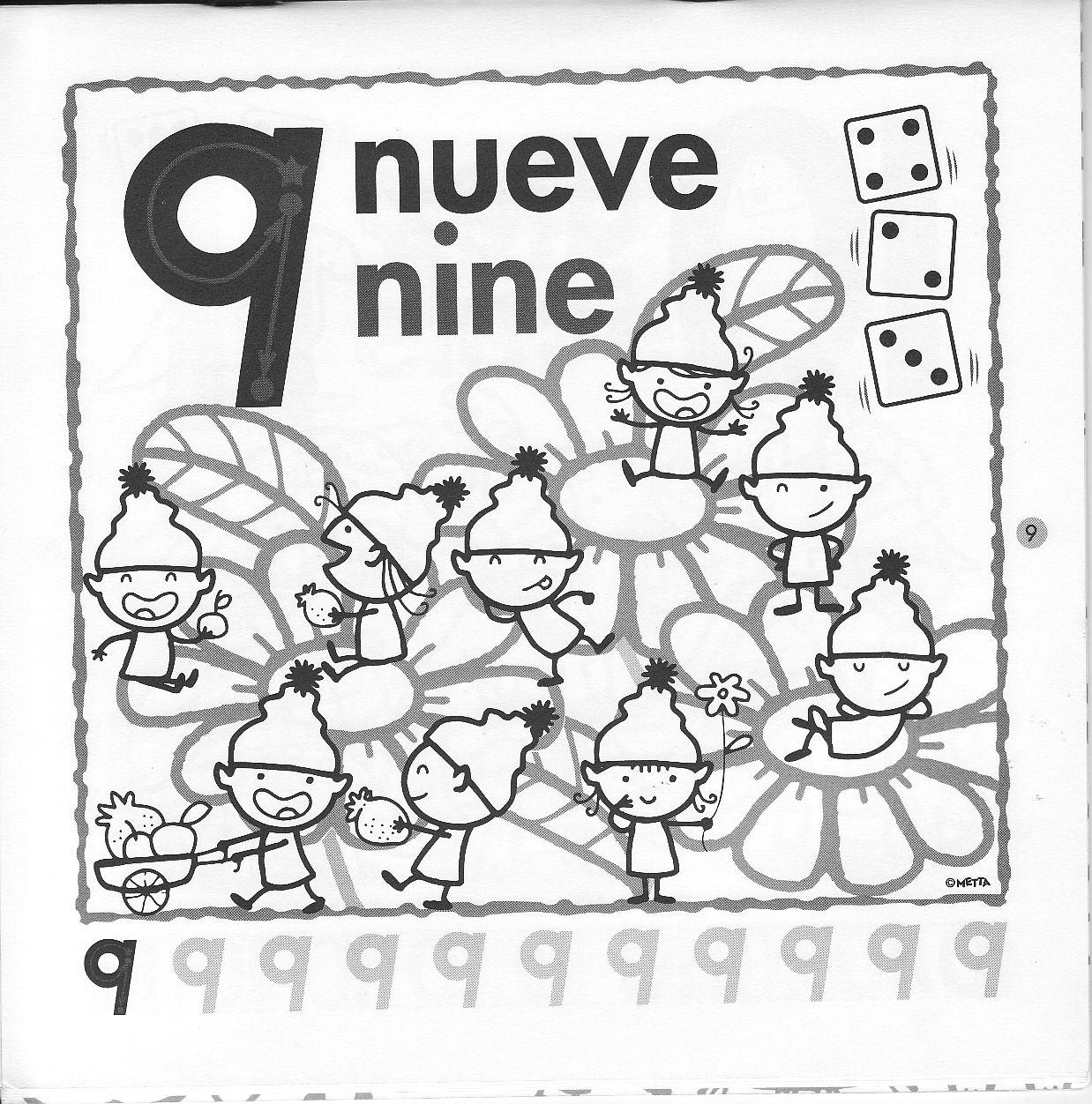 Fichas De Inglés Para Niños Fichas De Números En Inglés Numeros En Ingles Fichas Ingles Para Preescolar