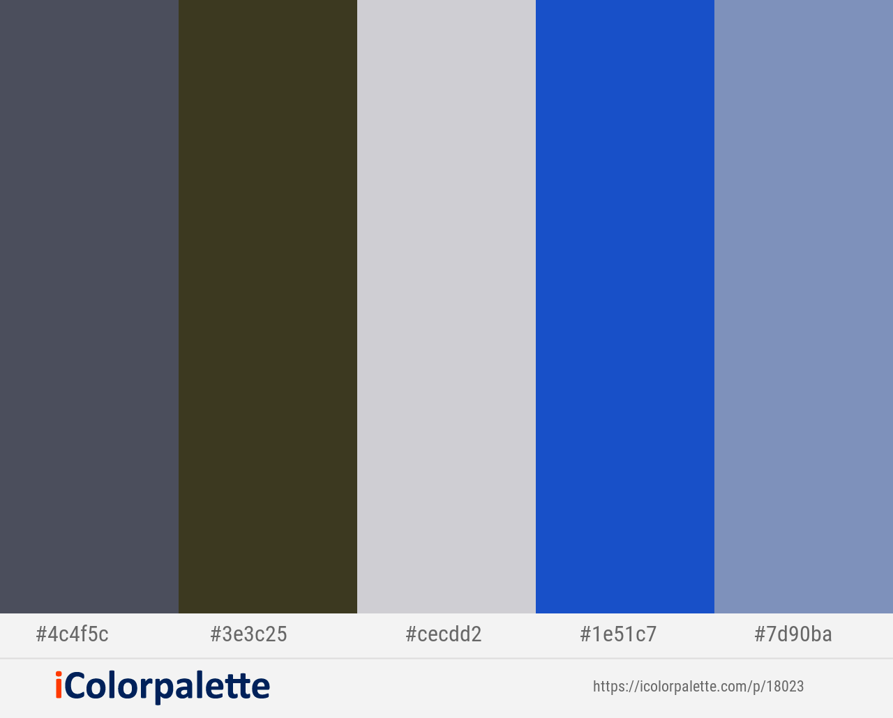 Trout Birch French Gray Persian Blue Wild Blue Yonder Color Scheme Icolorpalette Blue Colour Palette Persian Blue Light Steel Blue