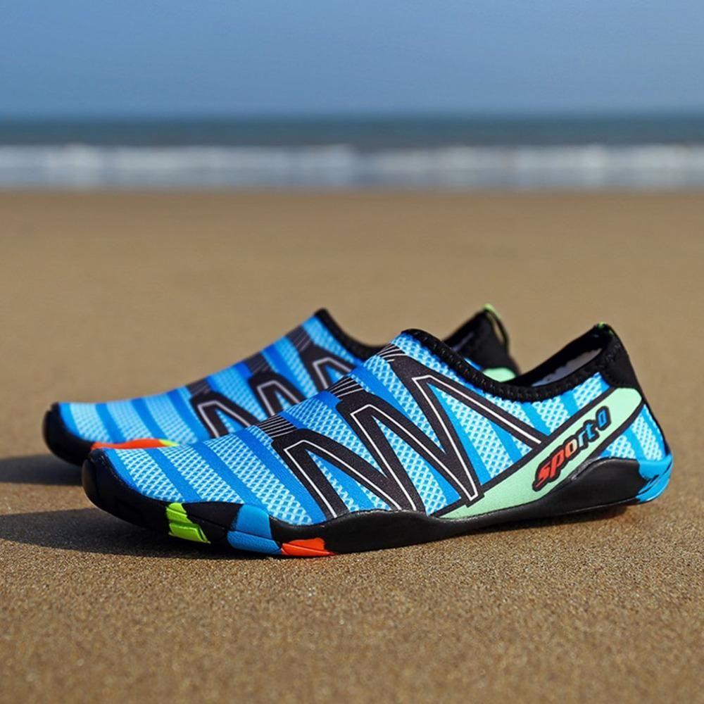 1c4e4f8abfa6 2018 Anti-Slip Design Adult Men Women Quick Dry Water Sport Shoes Barefoot  Skin Seaside Swimming Vacation Shoes