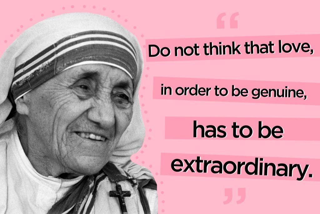 Mother Teresa Quotes 12 Mother Teresa Quotes To Live Mother Teresa Quotes Mother