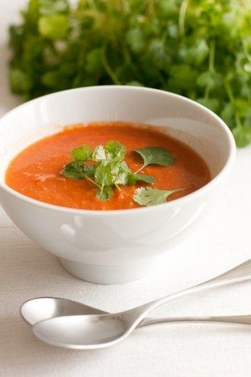 Kikherne-tomaattikeitto
