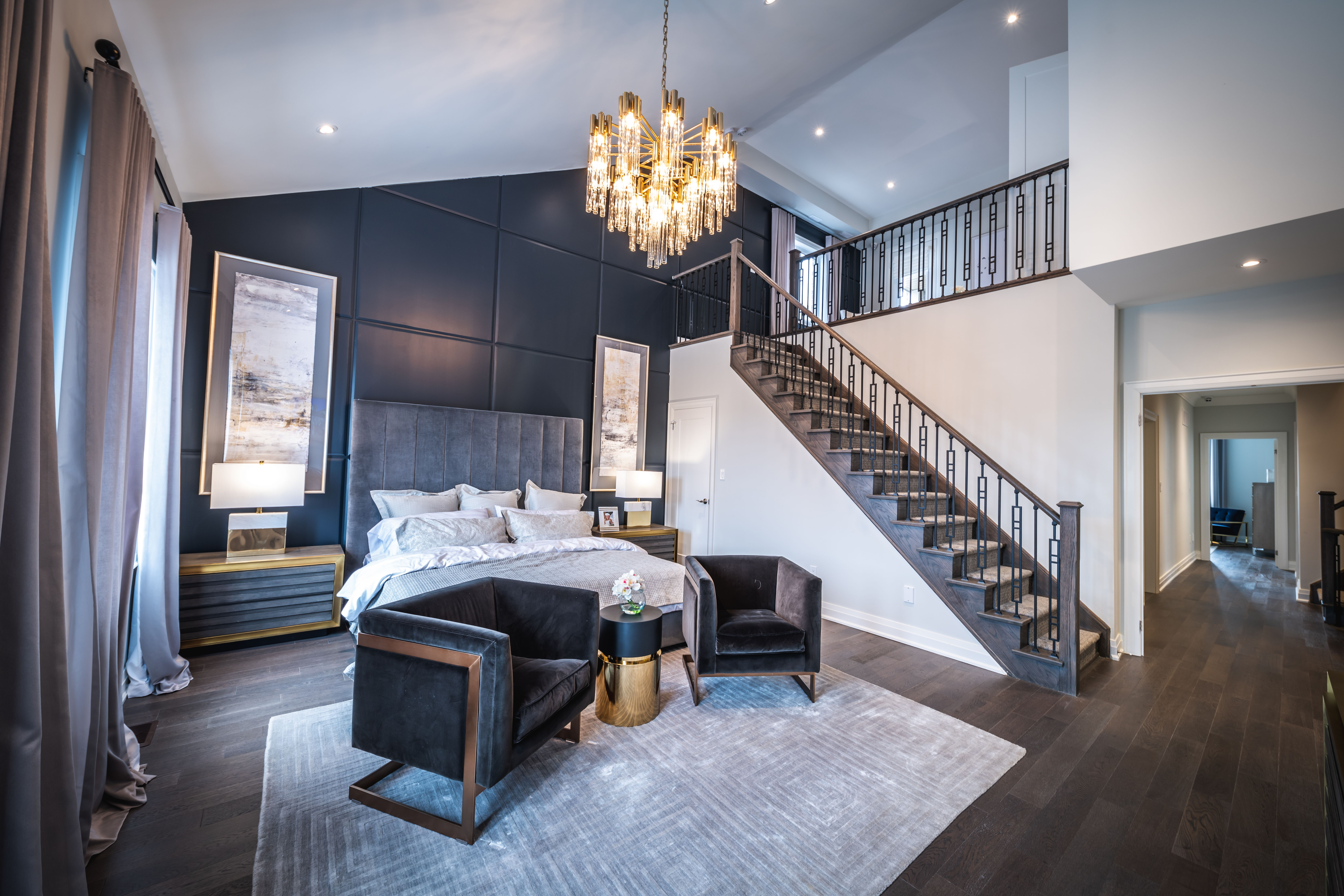 Dreamy master bedroom with loft at our observatory hill