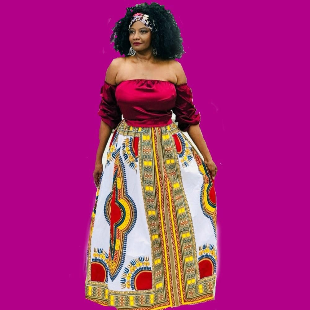 3f1e62074252c BAKI African Print Dashiki Maxi Skirt from Zabba Designs African Clothing  Store