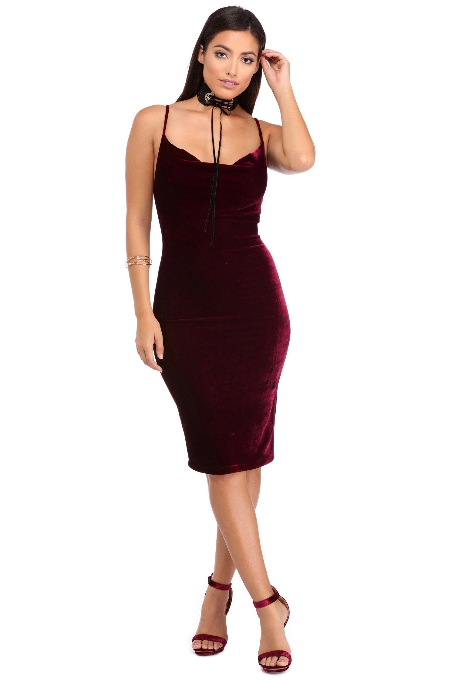 1778d8ae5 Burgundy Cowl Neck Midi Velvet Midi Dress, Velvet Material, Final Sale, Cowl  Neck