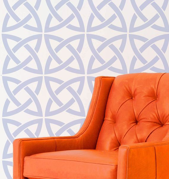 Wall Stencil Celtic Irish Lines Pattern Wall Room Decor Made By