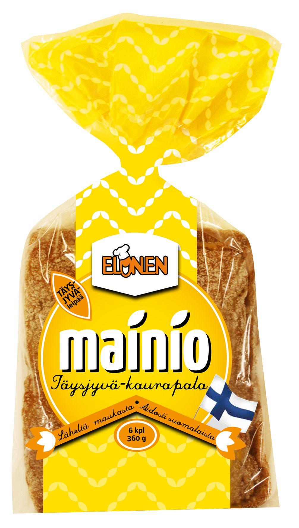 Elonen Mainio Täysjyvä-kaurapala  LAKTOOSITON, MAIDOTON, RUNSASKUITUINEN (7,3 %)