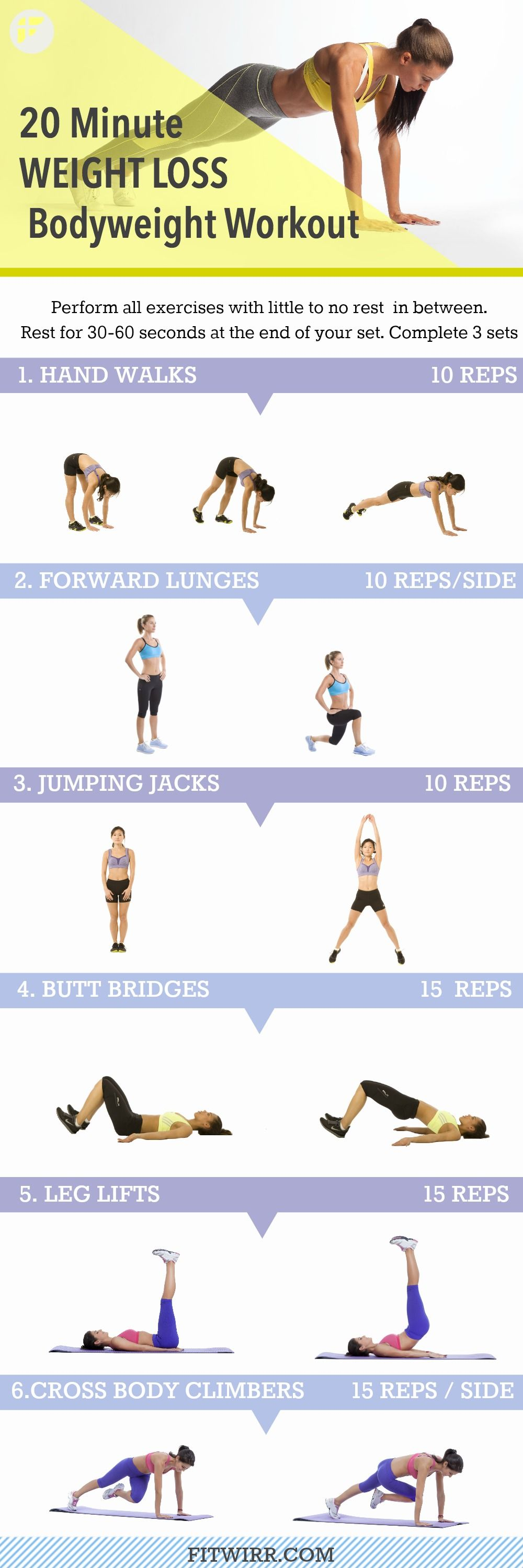 20 Minute Weight Loss Workout for Women