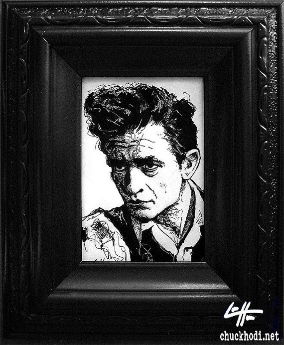 Johnny cash original country western rockabilly guitar walk the line elvis vintage hillbilly blues jail prison pop art