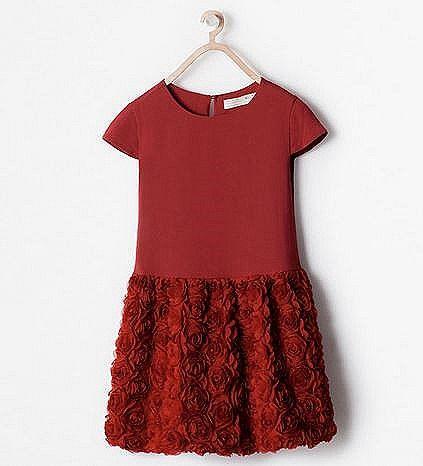 super servicio nuevo estilo de acogedor fresco vestido rojo niña de Zara | ideas <3 | Vestidos de navidad ...