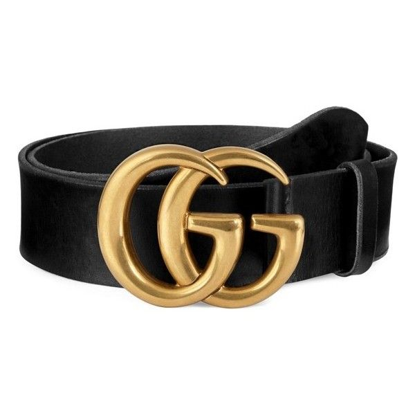 1fc27aae6a2c Men's Gucci Running Gold Leather Belt ($450) ❤ liked on Polyvore featuring  men's fashion, men's accessories, men's belts, black, gucci mens belt and  mens ...