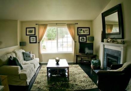 Ideen für das Arrangement von Wohnmöbeln auf zwei Ebenen