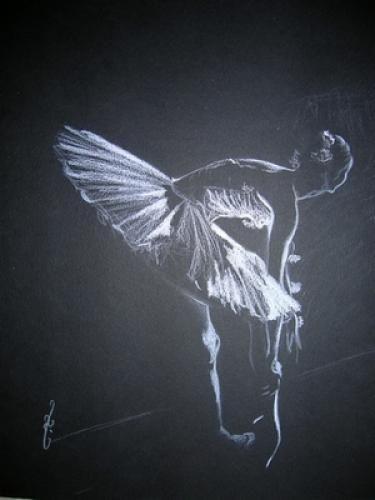 Tableau Sur Papier Noir Au Pastel Sec Scene De Vie 21 Oeuvres