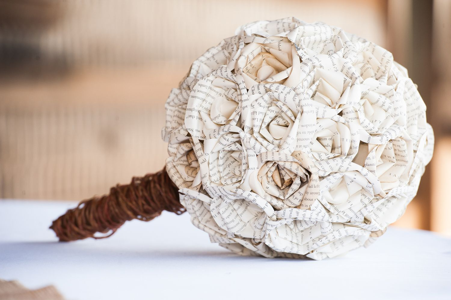 A wedding bouquet made out of pages from a Harry Potter Book ...