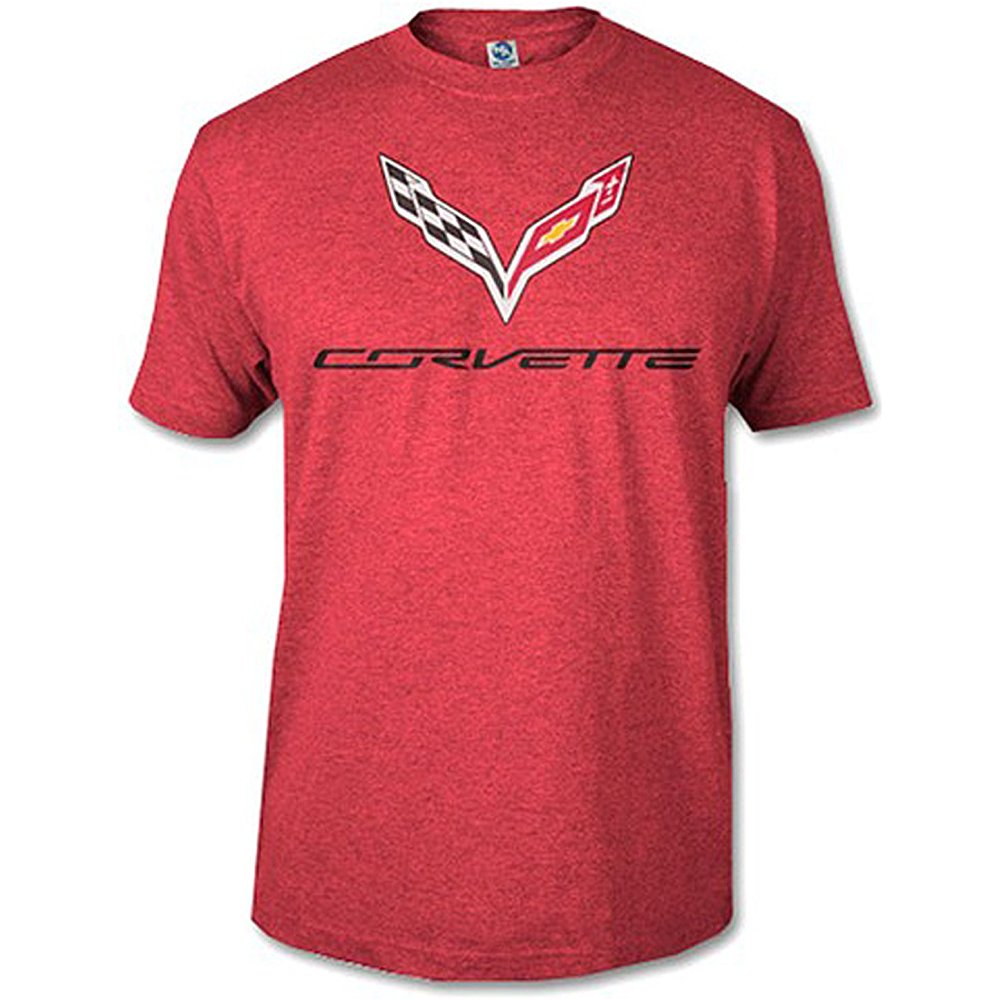 Corvette C7 Heather Red T Shirt Tunisex 10292 17 90 Corvette C7 Corvette Red Tshirt