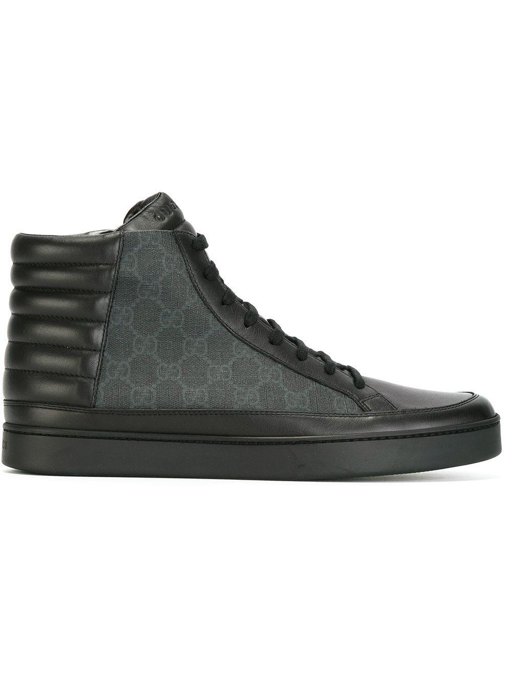 gucci shoes black and white. gucci gg supreme hi-top sneakers. #gucci #shoes # gucci shoes black and white m