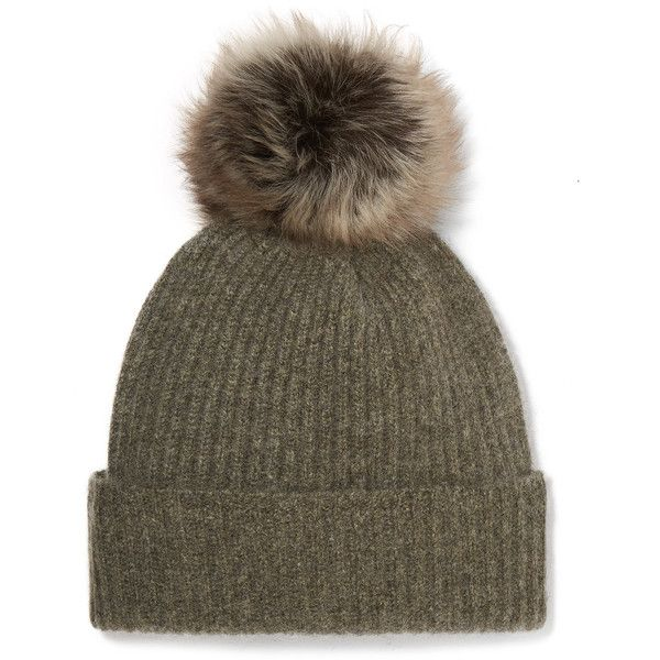 dbd9a9de81d Karl Donoghue Pompom-embellished ribbed cashmere beanie (€205) via Polyvore  featuring accessories