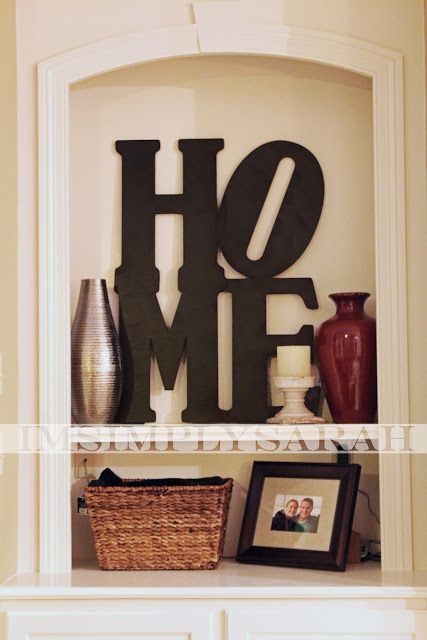 Create your own word-shaped wall decor.   21 Pottery Barn Inspired DIYs