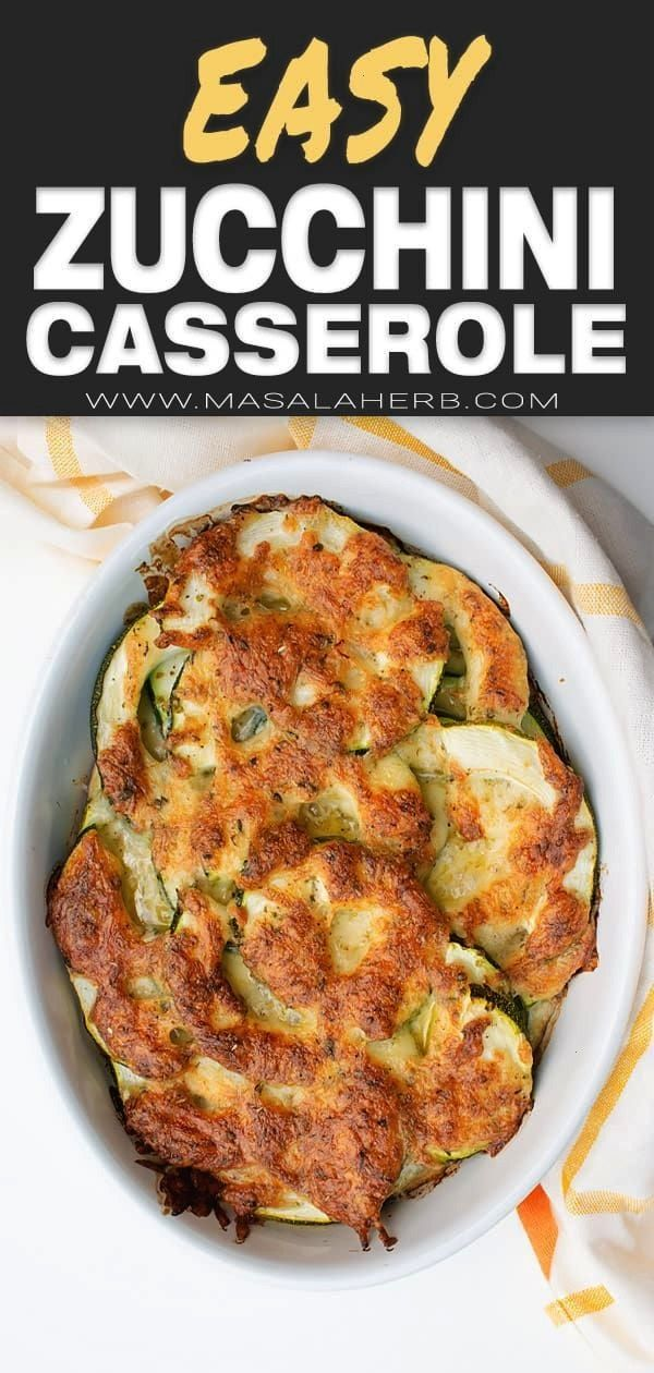 Zucchini Casserole Recipe  Garden Fresh Zucchini au gratin bake is a french vegetarian dinner idea Quick low carb and gluten free meal Easy Zucchini Casserole Recipe  Gar...