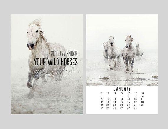 2014 Year of the Horse Calendar Print