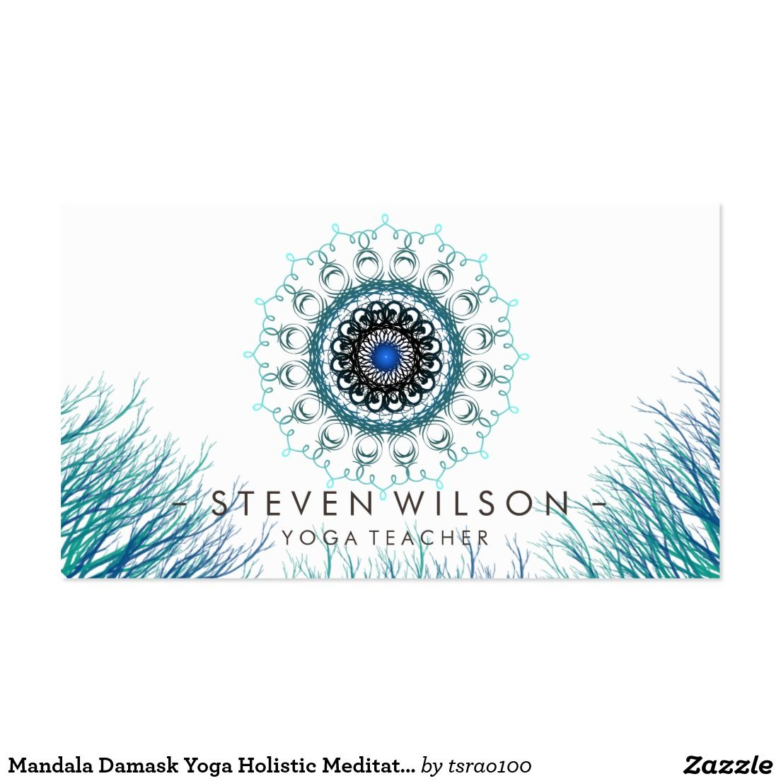 Mandala Damask Yoga Holistic Meditation Massage Business Card ...
