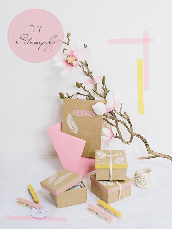 DIY: Stempel selber schnitzen | Craft wedding, Washi tape and Washi