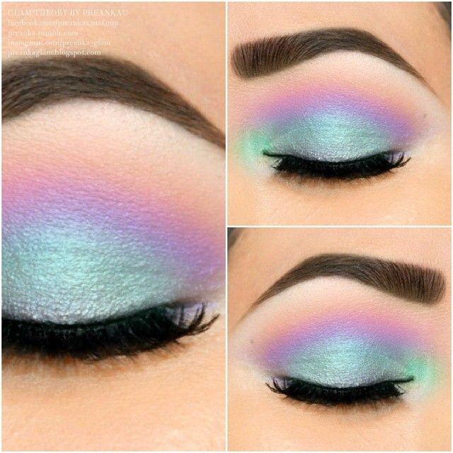 Pastel Eye Shadow Maquillaje Colorido Maquillaje De Ojos
