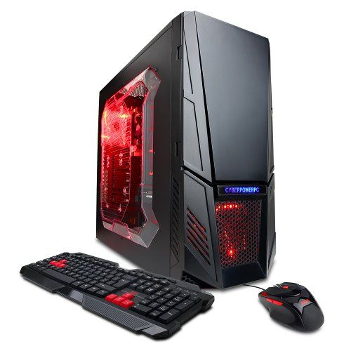 Cyberpowerpc Gamer Xtreme Gxi3600a Desktop Black Red Cyberpowerpc Http Www Amazon Com Dp B Gaming Desktop Gaming Computer Setup Desktop Computers