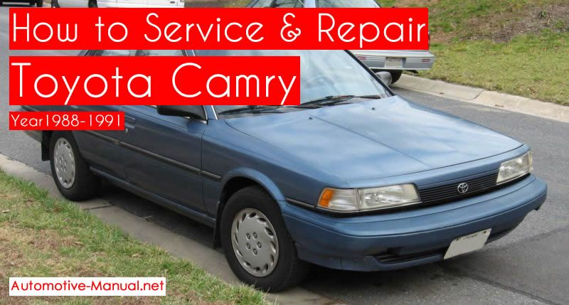 This Toyota Camry 1988-1991 service repair manual will ... on 90 chevy v6 ignition system, 91 toyota mr2 radio diagram, 91 toyota pickup wiring diagram,