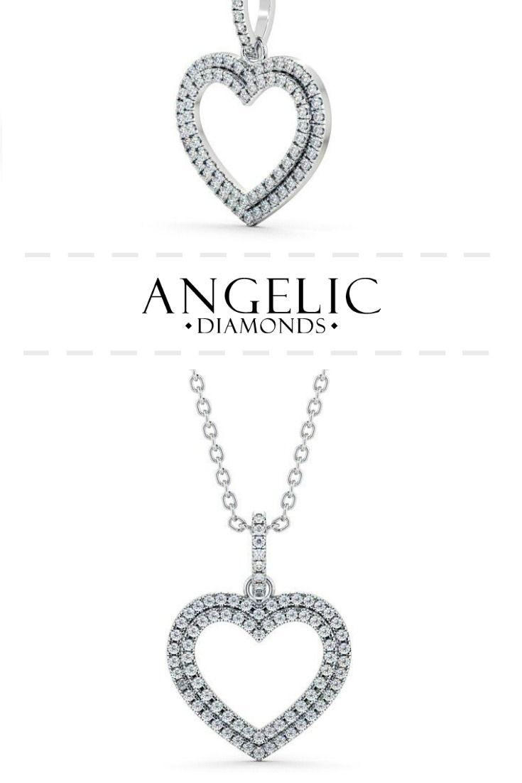 Heart shaped diamond cluster pendant 18k white gold keymer heart shaped diamond cluster pendant 18k white gold keymer aloadofball Gallery