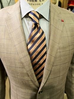 Brown suit, Isaia Napoli.