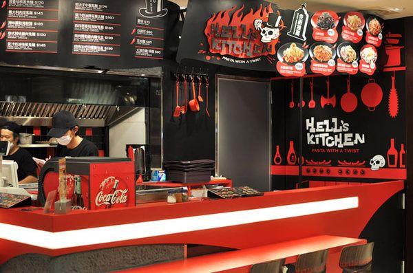 Hells Kitchen Restaurant Identity by Andrew wong Onion Design