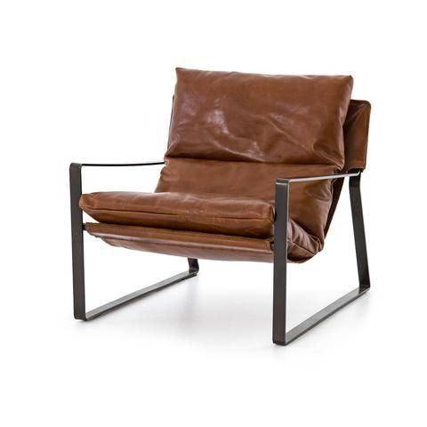 Emerson Leather Sling Lounge Chair