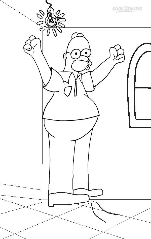 Printable The Simpsons Coloring Pages For Kids